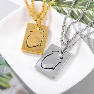 Heart Lock Necklace Set - NovaShop365 ™