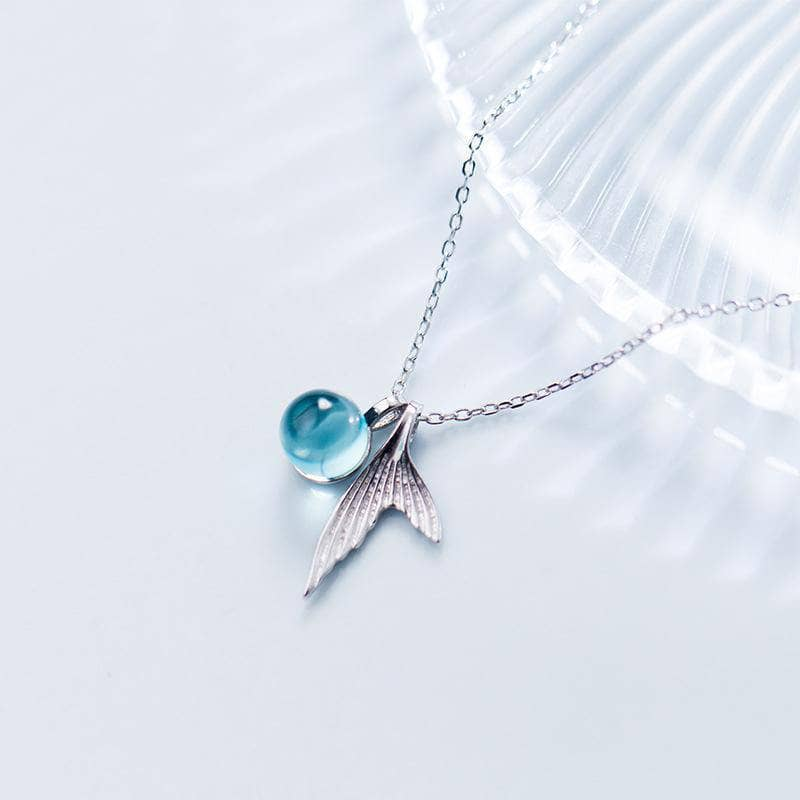 Ocean Crystal Mermaid Necklace - NovaShop365 ™