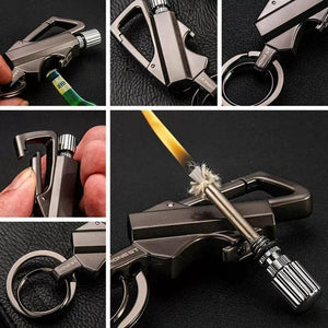 Premium Fire Starter Survival Multi Tool Key Chain - NovaShop365 ™