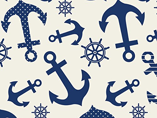 Blue Anchors Tissue Paper