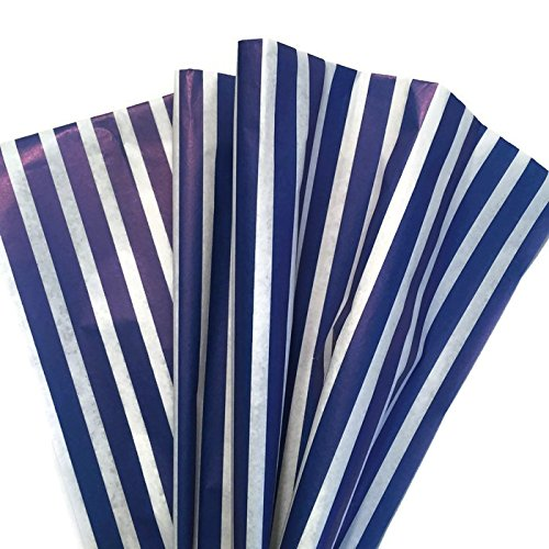 Classic Royal Blue Stripe Tissue Paper