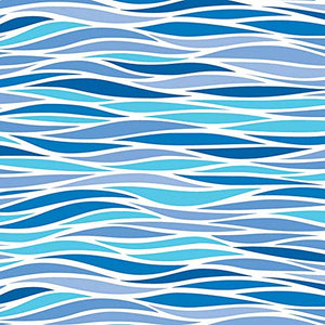 Blue Ripple Waves