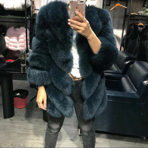 Khloe Long Fox Fur Coat