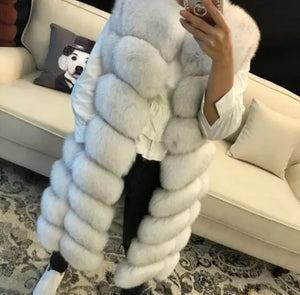 Irina Long Fox Fur Gilet