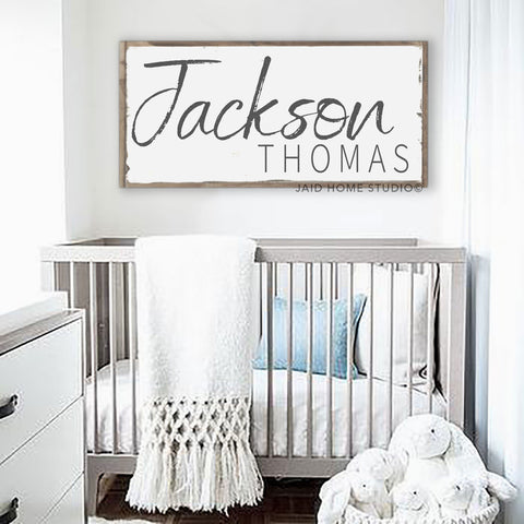 Personalized Baby Boy Nursery Sign