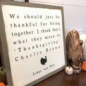 Charlie Brown Thanksgiving Definition