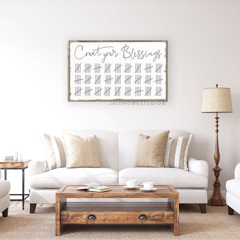 Count Your Blessings - Home Decor