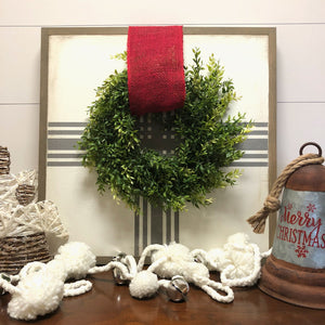 Farmhouse Boxwood Wreath