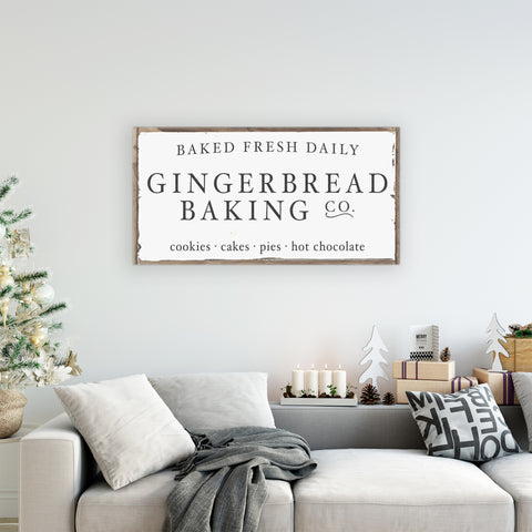 Gingerbread Baking Co Christmas Sign