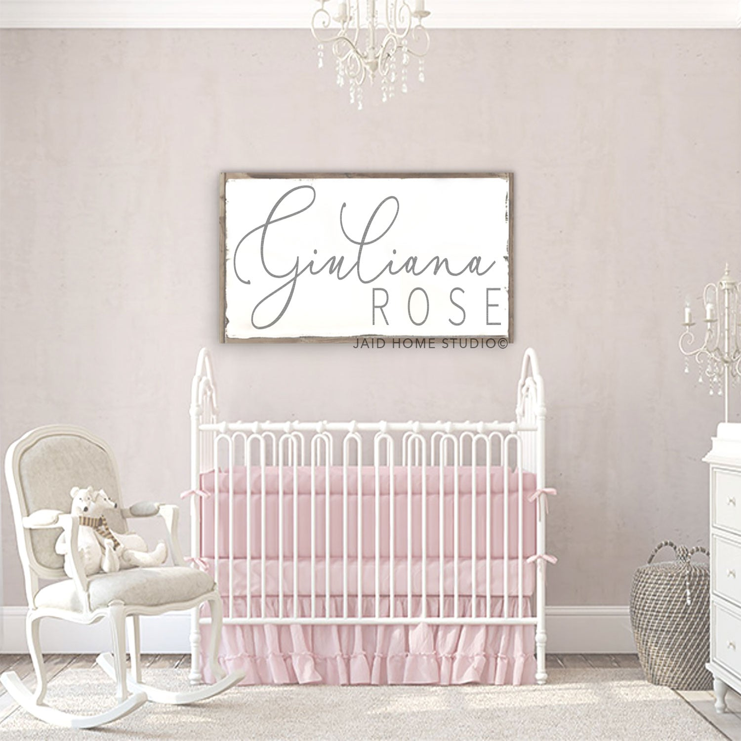 Personalized Baby Girl Nursery Sign