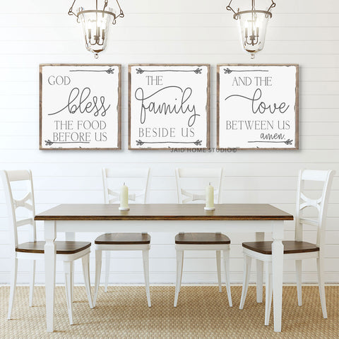 Grace Before Meals Set of 3 - Home Decor