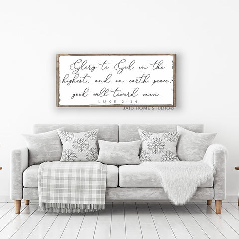 Glory To God Scripture Sign