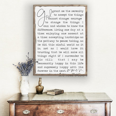The Serenity Prayer - New Look!