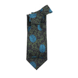 Brain tie with blue brains and green vines