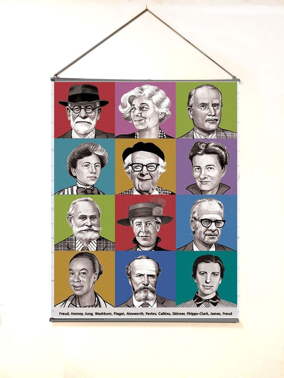 Extra Large (4 ft by 3 ft) Black and white famous psychologists