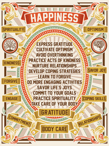 Happiness Poster (Yellow version)