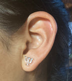 Psi symbol post earrings