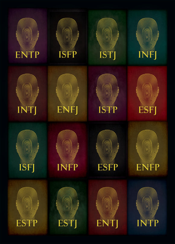 Personality Types Psychology Poster