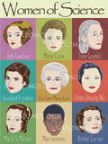 Nine women of science poster