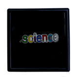 Science lapel pin science word pin