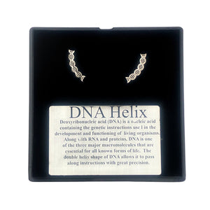 DNA post earrings  dna stud earrings
