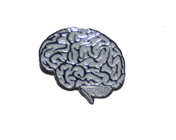 Brain Pin Lateral White brain pin