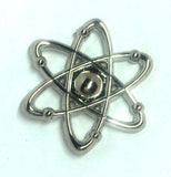 Silver Atom Science Lapel Pin