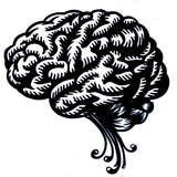 Brain decal