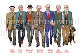 Small Psychology Male Historical Researchers Poster