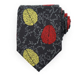 Brain Tie Yellow and red flowers