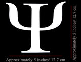 Psi Symbol Vinyl Decal
