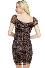Load image into Gallery viewer, Lexi Leopard Mini Dress