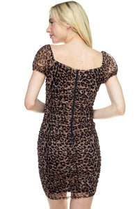 Lexi Leopard Mini Dress