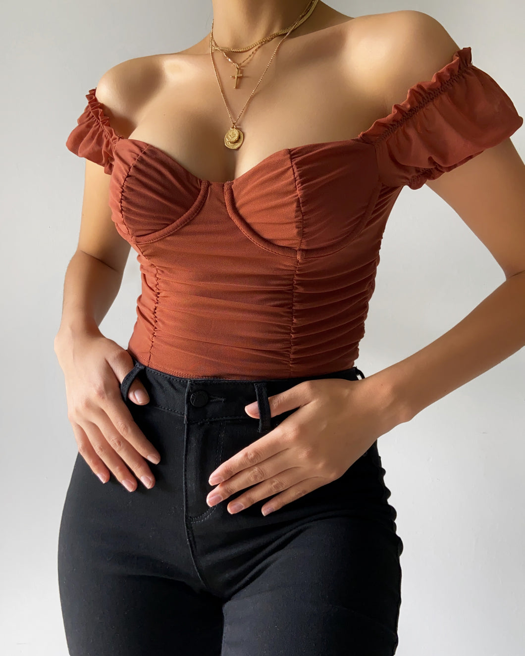 Estelle Crop Top (Rust)