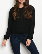 Load image into Gallery viewer, Vivian Black Knit Sweater