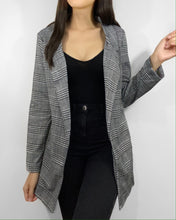 Load image into Gallery viewer, Working Girl Plaid Blazer