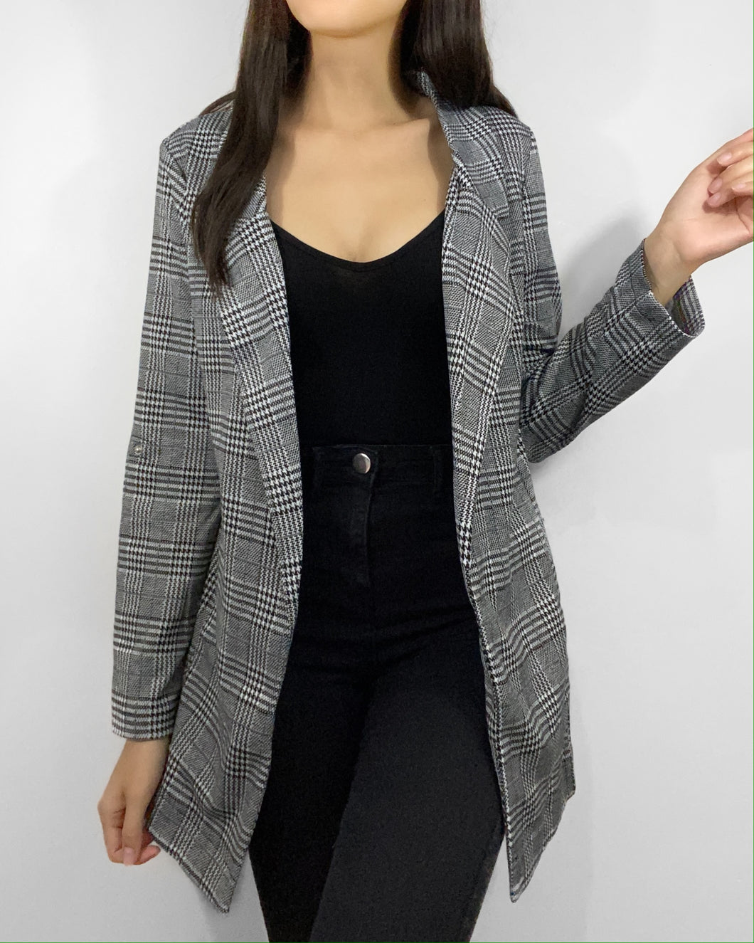 Working Girl Plaid Blazer