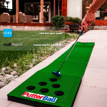 Practice Putting at home or office with portable putting green by Putterball