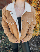 Load image into Gallery viewer, Shayna Corduroy Sherpa Lined Jacket