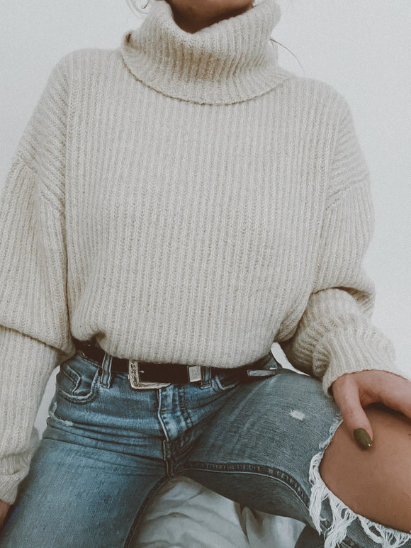 Mona Oversized Turtleneck Sweater