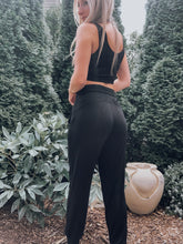 Load image into Gallery viewer, Poppy Lounge Joggers Black