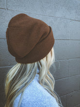 Load image into Gallery viewer, Brown Fleece Lined Beanie