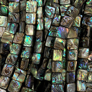 Abalone 10mm Square