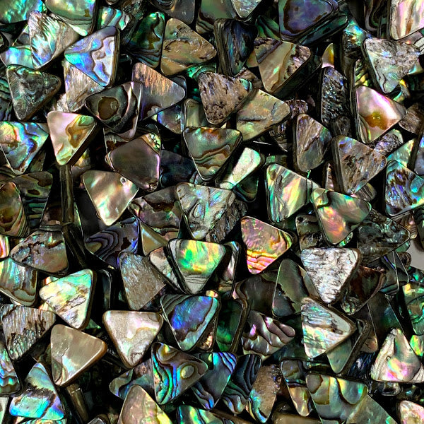 Abalone 14mm Triangles
