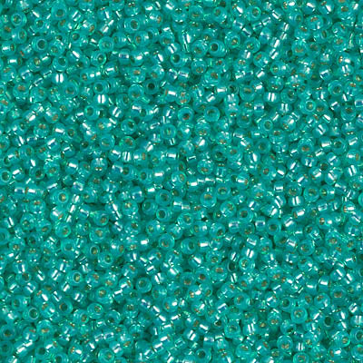15-0572 BRIGHT AQUA TRANSPARENT SILVER LINED DYED