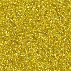 15-0006 YELLOW TRANSPARENT SILVER LINED