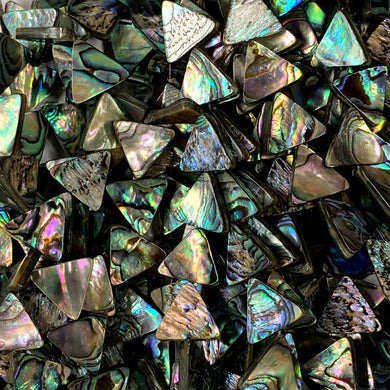 Abalone 16mm Triangles