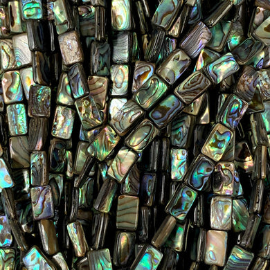 Abalone Rectangles  8x10mm