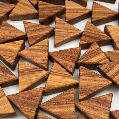 15mm Bayong Wood Triangle Beads