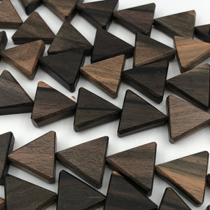 15mm Ebony Wood Triangle Beads